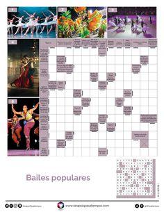 Autodefinido. Bailes. #Pasatiempos #Entretenimiento #Autodefinidos #Crucigramas #Bailes #Danza #BailesPopulares  ¡Encuentra más pasatiempos en www.sinapsispasatiempos.com! Popular, Crossword, Diagram, Printable Word Search Puzzles, Music Worksheets, Barn Owls, Entertainment, Blue Prints, Crossword Puzzles