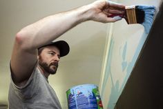 When your brush is loaded with paint, it's easy to create runs by applying too much paint in corners or along trim. To avoid that, start brushing about 1/2 inch away from the cut-in area to apply the paint. As the brush unloads, move over and slowly drag the brush along the trim or corner. Let the bristles gently push the paint against the cut-in area where the walls meet.