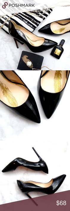 """Black Patent Scalloped Edge Pointed Toe Pumps Details: * Size 10 * Patent leather * Pointed toe  * Scalloped edge * 4.25"""" heel * Brand new in box  09091605 Jessica Simpson Shoes Heels"""