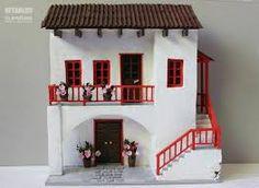 Resultado de imagen de imagenes de balcones mexicanos Miniature Houses, Miniature Dolls, Diy Dollhouse, Dollhouse Furniture, Doll House Crafts, Paper Houses, Fairy Houses, Diy Wall Art, Model Homes