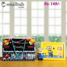 Display beautiful memories in this cute felt photo frame. Minion theme , Designed to perfection this frame is crafted from felt. Attractive color scheme make this frame a beautiful addition to your kids room.  Specifications Type - Photo Frame Design - Felt Dimensions - M. These are best suitable for return gifts of birthday parties or any other occasions for kids. Birthday Return Gifts, Minion Theme, Photo Frame Design, Minions, Color Schemes, Birthday Parties, Kids Room, Thankful, Felt