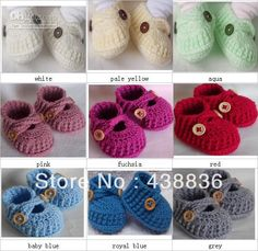 Crochet Baby Boys Girls Booties Infant Toddlers First Walkers Shoes Indoor Soft Sole Solid Color Cross Loafers 0-12M 100% Cotton