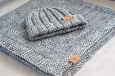 By knitwithluvs Baby Boy Blanket & Cap