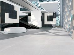 Porcelain stoneware wall/floor tiles WHITE GROUND New Ground Collection by GranitiFiandre