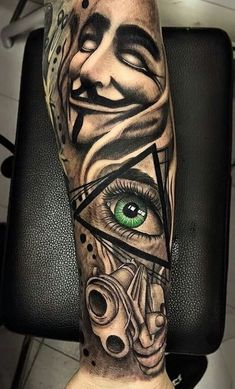More at Mike Vands 😈 Chicano Tattoos Sleeve, Forarm Tattoos, Tribal Sleeve Tattoos, Best Sleeve Tattoos, Tattoo Sleeve Designs, Forearm Tattoo Men, Leg Tattoos, Tattoos For Guys, Gangster Tattoos