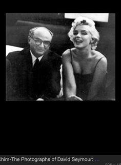 Marilyn and Photographer Chim- David Seymour