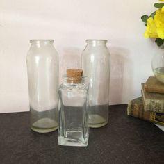 VINTAGE BOTTLES DECOR Set of 3 vintage glass by AnnmarieFamilyTree