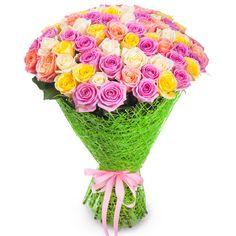 Артикул: 035-244 Состав букета: 71 роза желтого, белого и розового цвета, оформление Размер: Высота букета 60 см Роза: Выращенная в Украине http://rose.org.ua/bukety-iz-roz/1477-koktejl.html #букеты #букетроз #доставкацветов #RoseLife #flowers #SendFlowers #купитьрозы #заказатьрозы #розыпоштучно #доставкацветовкиев #доставкацветовукраина #срочнаядоставка #заказатьрозыкиев