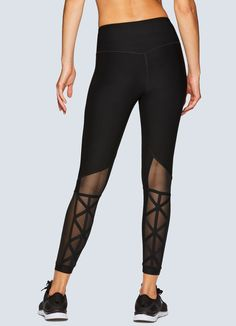 dfd748e71 Bring style to your regular studio look with these cage back mesh ankle  length leggings!