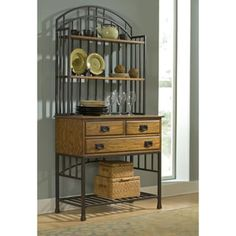 Shop for Oak Hill Distressed Oak Bakers Rack by Home Styles. Get free shipping at Overstock.com - Your Online Kitchen & Dining Outlet Store! Get 5% in rewards with Club O! - 14216125