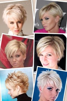 Longer Pixie cut------ top left cut