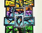 Quilled paper art - Tree art - quilled mosaic art - quilled tree - multicolor art - abstract art - bright colored art -