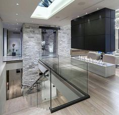 ̗̀ Pinterest: JessBFB ☼☾✨ · Contemporary HallwayModern Contemporary  HomesContemporary ApartmentContemporary Interior DesignGlass ...