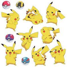 Pokemon Pikachu Peel and Stick Wall Decals