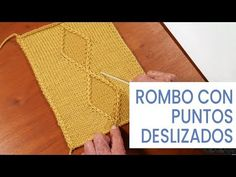 Tejer 💁♀ Formar un rombo con puntos deslizados Tejiendo con Lucila - YouTube Textiles, Baby Shower, Sewing, Knitting, Youtube, Videos, Knitting And Crocheting, Molde, Tips