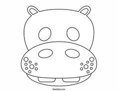Printable Hippo Mask to Color