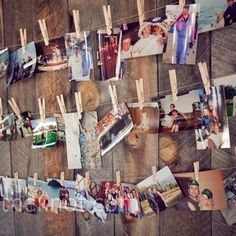 display of photos!