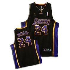 07b755815 Kobe Bryant Authentic In Black Purple Adidas NBA Champions Los Angeles  Lakers  24 Men s