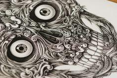 Alex Konahin. Drawn with a dip pen.