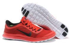2014 Nike Free Run Flyknit Carbon Black China Red Running Shoes Summer 2014 99ec54063fb53