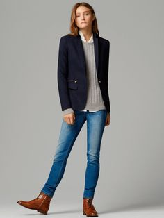 BLAZER WITH ZIP DETAIL