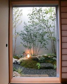 Indoor Gardens For Your Home Japanese Garden Backyard, Small Japanese Garden, Japan Garden, Japanese Landscape, Japanese House, Japanese Living Rooms, Japanese Interior Design, Patio Interior, Home Design Plans