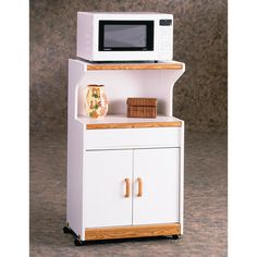 Ameriwood Microwave Cart With Oak Trim In White Stipple Lowest Price Online On All