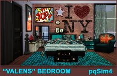 """Valens"" Bed room. Sims 4 Custom Content. ~ pqSim4"