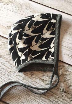 Handmade Bird Print Bonnet | ThePathLessRaveled on Etsy