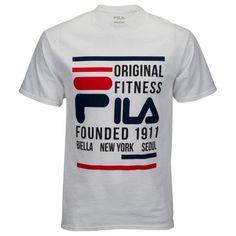 Fila Original Fitness T-Shirt - Men's Source by GabbyAndersonn Boys T Shirts, Tee Shirts, Shirt Men, Branded T Shirts, Printed Shirts, Fila Original Fitness, Camisa Nike, Fila Outfit, Polo Shirt Outfits