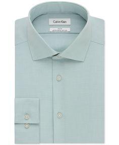 Calvin Klein Steel Slim-Fit Non-Iron Performance Houndstooth Dress Shirt