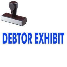 "Stamps for #Legal #Exhibit Documents - #Debtor Exhibit Stamp - Visit Acorn Sales and buy a 'Debtor Exhibit' Regular Rubber #Stamp online at discounted pricing! This stock stamp measures approximately 5/8"" x 1-5/8"". Get yours today!"