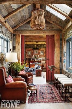 Home Interior Illustration Perkins Morris Litchfield County Lounge Cabin Interiors, Rustic Interiors, Indian Interiors, Victorian Interiors, Farmhouse Design, Rustic Design, Craftsman Farmhouse, Modern Farmhouse, Farmhouse Style