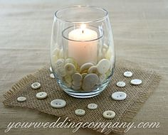 Add a vintage feel to your wedding day with white button accents. Decorate wedding favors, invitations, bouquets or use as vase filler in small centerpieces or votives.
