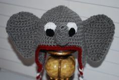 Alabama Roll Tide Crochet Elephant Earflap by JustBecauseBowtique, $25.00