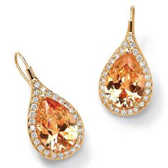 Costume Jewellery Tantalising Teardrop Navette Stud Earrings Using Tangerine Made In Uk Sturdy Construction