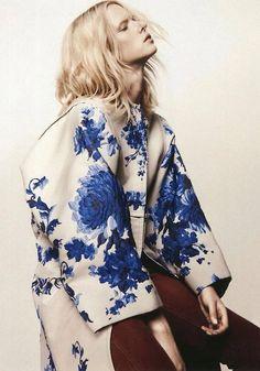 Blue Flower Kimono Via They All Hate Us
