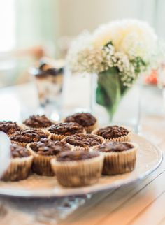 Chocolate Banana Protein Muffins Recipe: http://www.stylemepretty.com/living/2015/03/18/healthy-wholesome-brunch/ | Photography: Joshua Ratliff - http://www.joshuaratliffphotography.com/