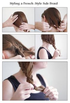 Make a French-Style Side Braid | hairstyles tutorial