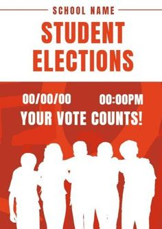 Red Simple Students white shadows with easy to edit text for student elections Student Council Posters, Vote Counting, Edit Text, Shadows, Students, Names, School, Simple, Easy