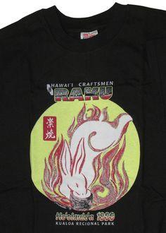 Hawaii Craftsmen Raku Year of the Rabbit 1999 T-shirt L NW #HanesBeefy #Tshirt