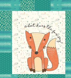 What Does the Fox Say? Quilt - Custom Quilts by Stitched