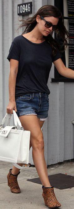 Shorts - Current/Elliott Purse - Chanel Shoes - ShoeMint Sunglasses - Ray Ban Ray-Ban RB4105 FOLDING WAYFARER 50 Current/Elliott Girlfriend Short Carousel