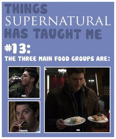Things Supernatural Taught Me; beer, burgers, pie.
