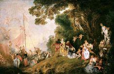 Rococo - Antoine Watteau, Pilgrimage to Cythera , 1718–1721
