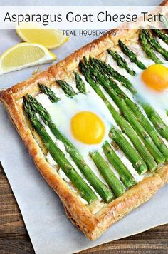 Asparagus Goat Cheese Tart | Easy Easter Recipes You'll Crave All Year Round | https://homemaderecipes.com/easy-easter-recipes/