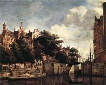 The Martelaarsgracht in Amsterdam - Adriaen van de Velde