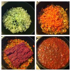 Papillons d'Onyx: [Recette] Sauce bolognaise maison! Chana Masala, Salsa, Ethnic Recipes, Sweet Recipes, Cooking Recipes, Papillons, Sweet Treats, Food, Salsa Music