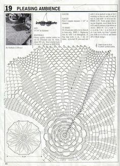 Decorative Crochet Magazines 61 - Gitte Andersen - Álbuns da web do Picasa Crochet Angel Pattern, Crochet Doily Diagram, Crochet Doily Patterns, Crochet Chart, Thread Crochet, Filet Crochet, Irish Crochet, Crochet Doilies, Crochet Stitches