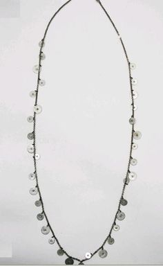 Ben Amun long coin necklace